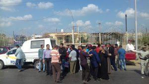 اضراب السائقين من المنصورة