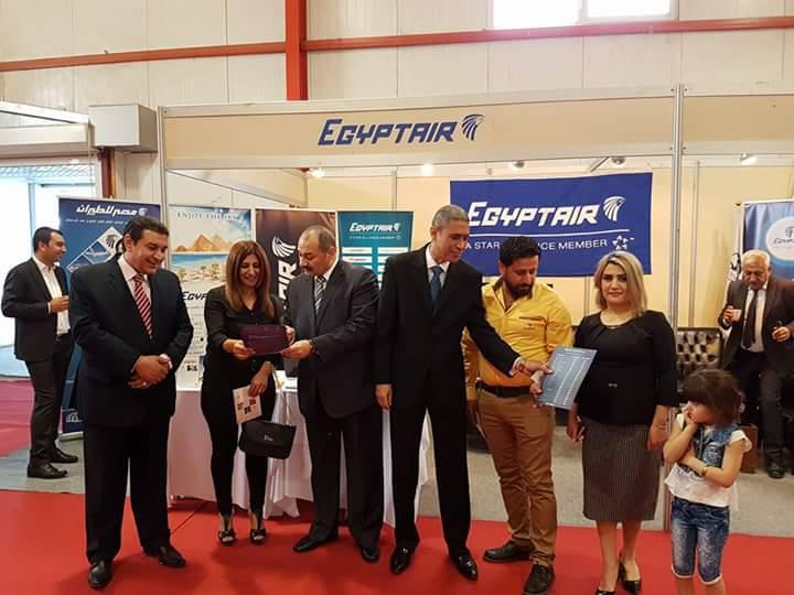 مصر للطيران ترعى معرض المنتجات المصرية في أربيل بالعراق