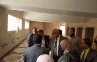 نائب رئيس جامعة المنصورة ومدير المدن الجامعية يتابعان عملية صيانة مبانى مدينة جيهان للطالبات