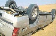 عاجل ... مصرع شخص وإصابة اخر في حادث انقلاب سيارة بالوادي الجديد