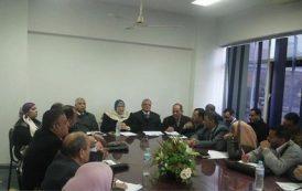 اجتماع وكيل وزارة الصحة بالمنوفية مع السادة مديرى المستشفيات العامة والمركزية بالمديرية
