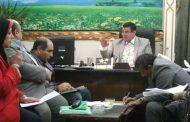 عيد يجتمع مع مديري الادارات في كفر الزيات _ غربية