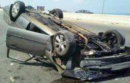 انقلاب سيارة ملاكي بجبل الزيت بالبحر الاحمر و اصابة ٤ اشخاص