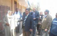 بالصور.. رئيس مدينة اهناسيا يتفقد منشآت حكومية ببني سويف