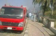 الحماية المدنيه تسيطر على حريق بالقرب من مزلقان الجبانه بدشنا