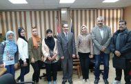 نائب رئيس جامعة قناة السويس يُستقبل الطالبات المشاركات فى برنامج