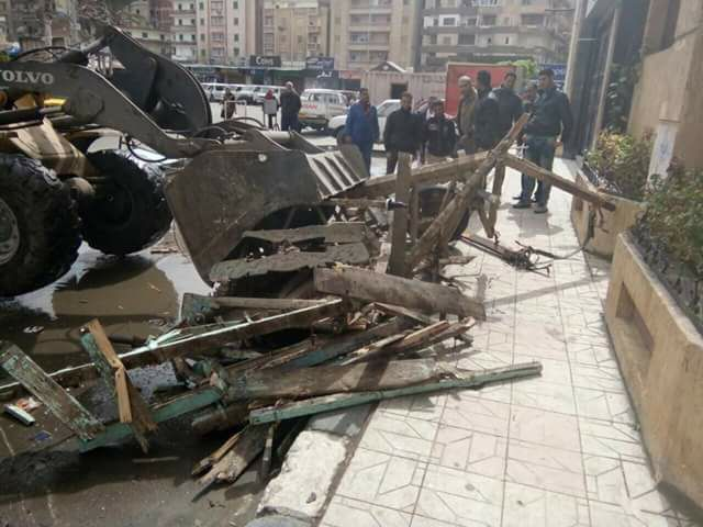 إعدام عربات الكارو التابعه للنباشين حى المنتزه اول الاسكندرية