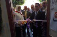 بالصور..إفتتاح معرض المجال الصناعي بمدرسة السيدة عائشة للثانوية بنات ببني سويف.