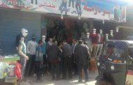 اخلاء شارع الجمهورية حي العامرية أول بالأسكندرية تمهيدا لبدء اعمال الرصف والتطوير