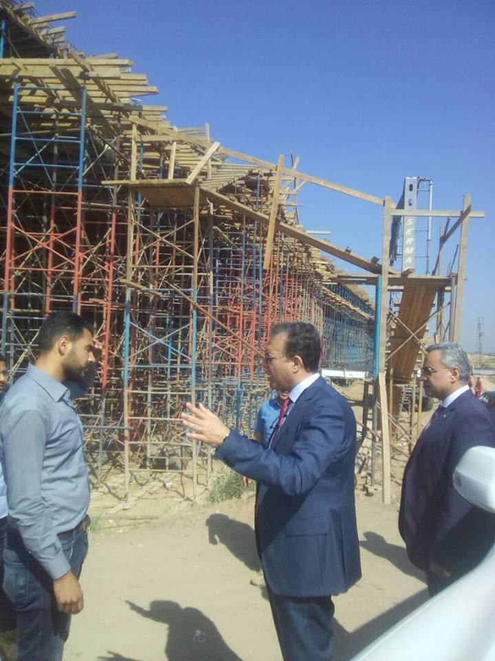 وزير النقل في جولة لطريق شبرا بنها الحر