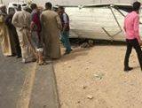 إصابة 13 طالبا في حادث مروع بطريق جامعة سوهاج الجديدة