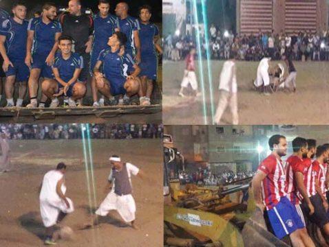 مسخرة:| مباراة كرة قدم بـ«زي فلاحي» يقودها لاعبي الزمالك وإنبي.. ولودر يحمل اللاعبين لأرض الملعب والبرويطة تنقل المصابين
