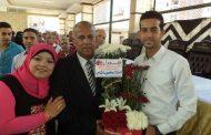 أحتفالية تكريم خروج الزنارى على المعاش ببلدية المحلة