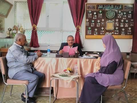 بالصور النيلي يتابع انتظام الدراسة بمدرستي مطروح الثانوية بنات وتحفيظ القرأن الابتدائية بمطروح