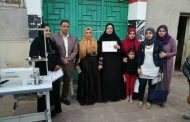 بالصور : توزيع 5 ماكينات خياطة لدعم المرأة بمشتول السوق - شرقية