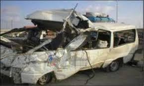 إصابة 9 اشخاص بعد حادث انقلاب سيارة  بالطريق الاقليمي ونقلهم لمستشفى التأمين الصحي بالعاشر شرقية