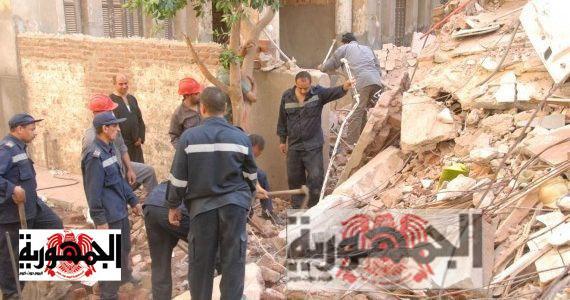 انهيار عقار الاسكندرية