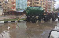 كسح مياه الأمطار شوارع جمصه - دقهلية
