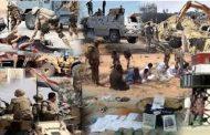 انتصارات كبيرة حققت مع أبطال وبواسل العملية سيناء 2018 فى حربهم الناجحة ضد الإرهاب