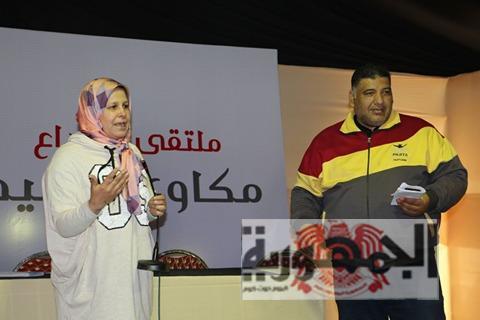 الإحتفاء بشعراء جامعة المنصورة  بمخيم فؤاد حداد