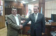 رئس جامعة طنطا يلتقي بمدير اعلام وسط الدلتا