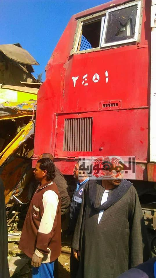 تفاصيل حادث تصادم قطاري البحيرة