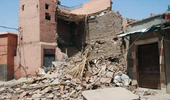انهيار منزل مكون من طابقين دون اصابات بقرية شنبارة الميمونة الزقازيق - شرقية