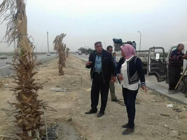 تطوير الطريق الصحراوي بمدخل الاسكندرية