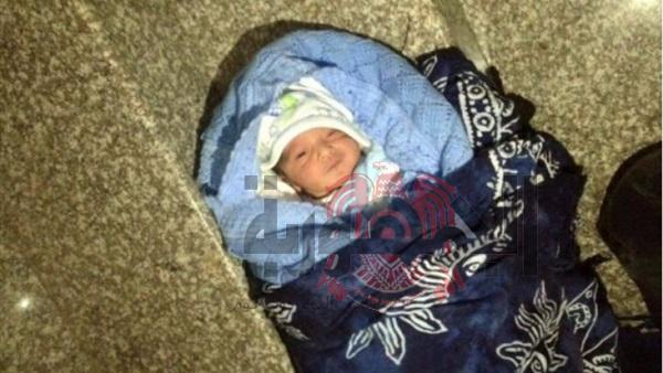 العثور على طفل عمره يوم  أمام مسجد الأفندي بناحية شعفوره بالصالحية القديمة-شرقية