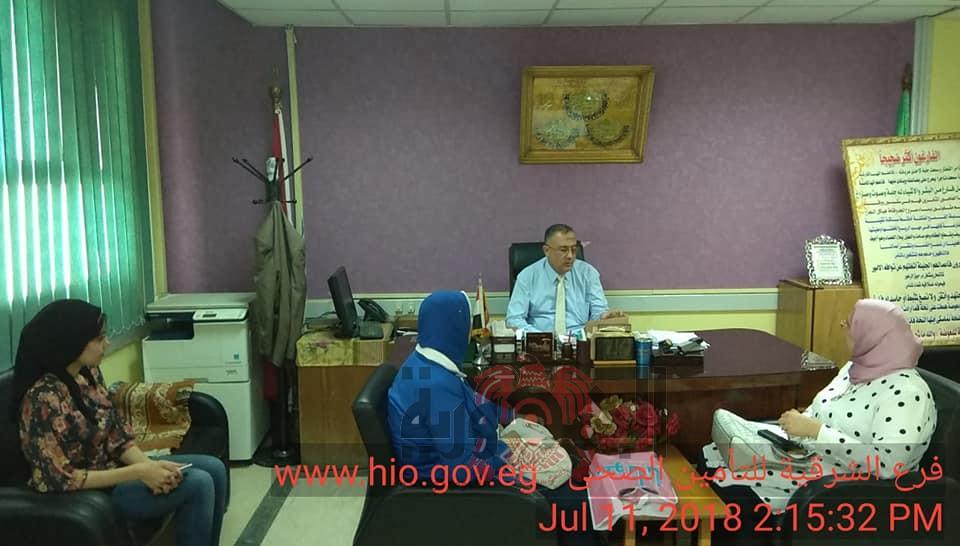 مدير فرع الشرقية يستقبل اعضاء المجلس القومى للمرأة بمكتب مدير الفرع