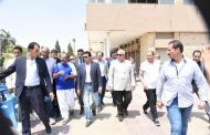 وزيرالشباب ومحافظ الشرقية,, في جولة تفقدية لنادي الصفوة والرواد بمدينة العاشر من رمضان