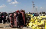 كيلاكيت إصابة 16 عاملة إثر حادث تصادم أتوبيس استثمار على طريق بورسعيد