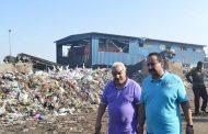 رئيس مدينة المحلة ينجح في رفع القمامة من مصنع التدوير