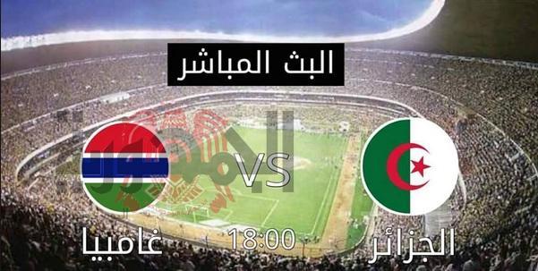 مباراة الجزائر وغامبيا