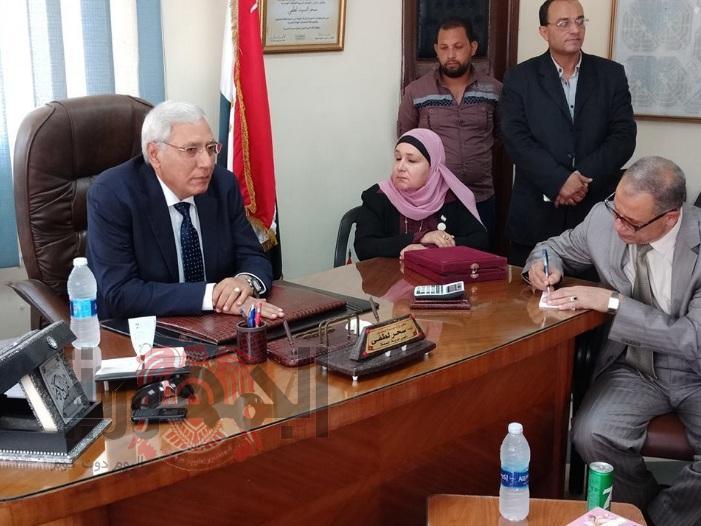 محافظ الدقهليه في اول زيارة رسمية .. له لمدينة جمصه