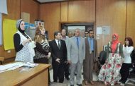 فى اليوم الاول من العام الدراسى الجديد مبارك يتابع بدء الدراسة بكليات جامعة المنوفية