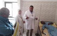 مدير حميات الإسماعلية يتفقد الأقسام ويطمئن على الخدمة الطبية .