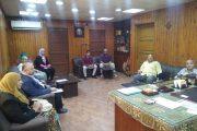 إجتماع وكيل الوزارة بلجنة المرور الدوري علي المستشفيات بالشرقية