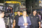 مدير أمن الإسماعيلية يعيد أحد شوارع المدينة المحتل من عشرات السنين خلال حملة مسائية بحى ثان.