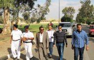 أهالي نمرة يقدمون الشكر لمدير أمن الإسماعيلية عقب أدائة صلاة الجمعة  لعودة الهدوء للمنطقة مرة أخرى.