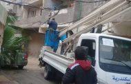 قامت إدارة الكهرباء بحى العجمى استجابه للبلاغات الواردة من غرفة محافظة الاسكندرية
