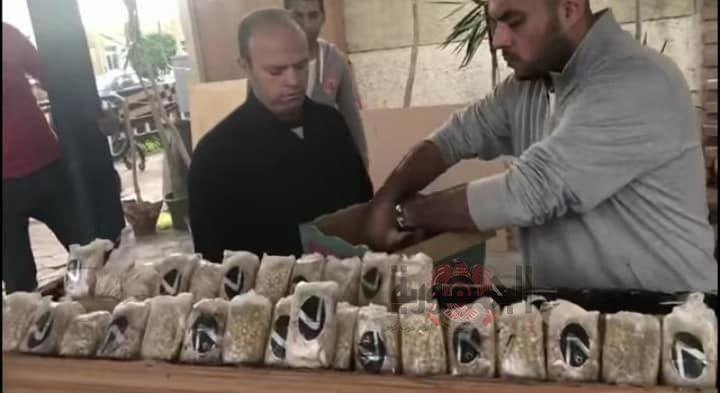 بالصور:ضبط ٣٧ ألف قرص من الكبتاجون المخدر قبل تهريبهم لإحدي الدول العربية