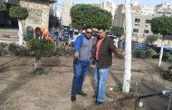 رفع الاشغالات بحديقة الاكاديمية بشارع اسكندر ابراهيم حي المنتزه اول
