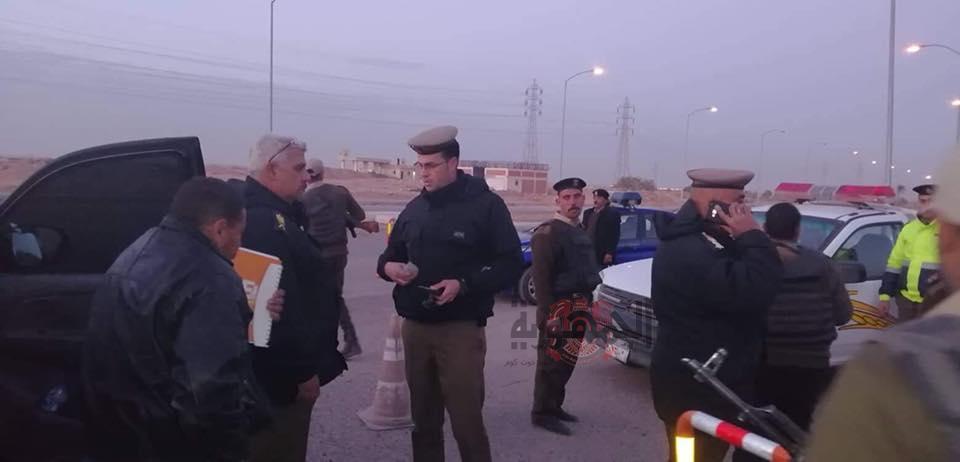 تمركزات أمنية مُكثفة بمدينة العاشر من رمضان بالشرقية