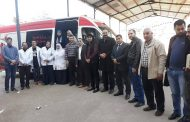 تحت رعاية نقابة المحامين بدمياط  قافلة طبية للتبرع بالدم بمحكمة الزرقا كصدقة جارية علي روح أحد المحامين بالزرقا.