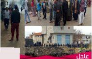 اعتراض حملة الازالات بمركز اولاد صقر بالشرقية