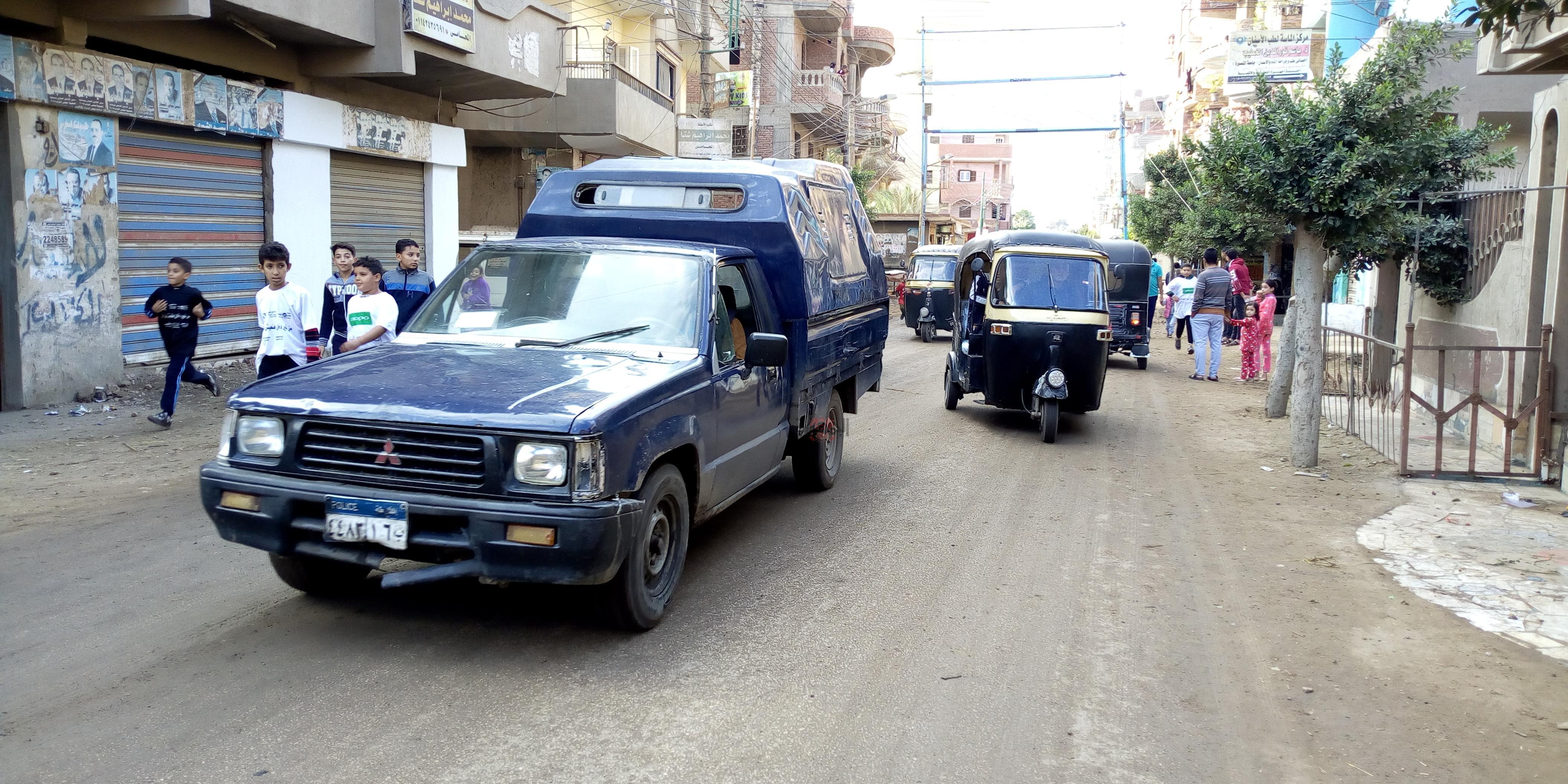 وفاة شرطى من قرية كفر قرطام داخل سيارة الشرطة بمركز السنطة بالغربية