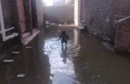تل الحدادين غارقه في مياه الأمطار بمركز البرلس - كفر الشيخ