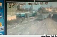 بالفيديو ..المصري اليوم..مشاجرة سائق القطار مع آخر المتسببة في «حريق محطة مصر»