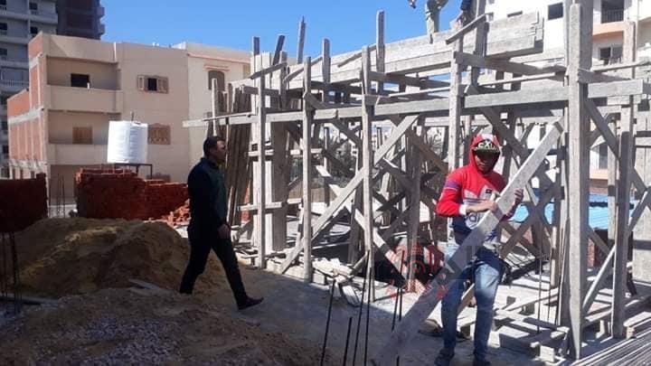 حي ثان المنتزة إيقاف أعمال بناء بدون ترخيص.....الإسكندرية